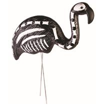 Black Skeleton Flamingo Flamingo Over The Hill Yard Decoration