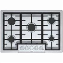 "Bosch 30"" 5 Sealed Burner OptiSim Burner Cast-Iron Gas Cooktop NGM8056UC S.S"