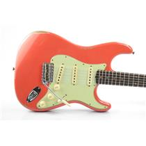 2018 Fender 1960 Stratocaster Relic Custom Shop Strat Aged Fiesta Red #33658