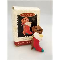 Hallmark Keepsake Series Ornament 1996 Puppy Love #6 - Dachshund - #QX5651-DB