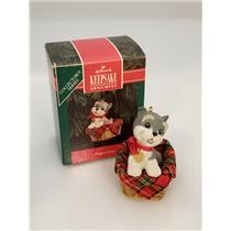 Hallmark Series Ornament 1992 Puppy Love #2 - Schnauzer - #QX4484-SDBNT