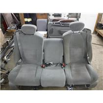 1999 - 2007 FORD F350 F250 EXT CAB GREY CLOTH SEATS - MANUAL EXCELLENT COND OEM