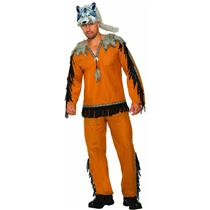 Native American Indian Wolf Spirit Costume for Men Standard Size
