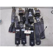 2001 - 2004 CHEVROLET GMC 2500 EXTENDED CAB REAR SEAT BELTS GREY OEM