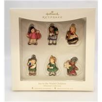 Hallmark Miniature Ornaments 2007 Joy to the World Children - Set of 6 - QSR8169