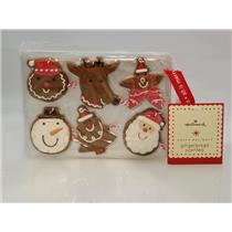 Hallmark 2008 Gingerbread Scented Cookie Ornament Set on Baking Sheet - #XAG5113