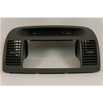 02-06 Toyota Camry Radio Dash Trim Bezel with Clock Passenger Airbag Indicator