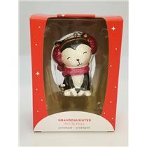 Carlton Heirlom Ornament 2018 Granddaughter - Darling Kitten - #CXOR020O