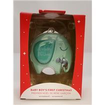 Carlton Ornament 2018 1st Christmas - Little Baby BIG Love Boy Elephant CXOR041O
