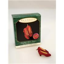 Hallmark Miniature Ornament 1999 Wonder of Oz #1 Dorothy's Ruby Slippers 4599SDB