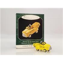 Hallmark Miniature Ornament 1998 Kiddie Car Classics #4 - Dump Truck - #QXM4183