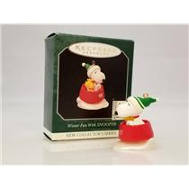 Hallmark Miniature Series Ornament 1998 Winter Fun With Snoopy #1 - #QXM4243