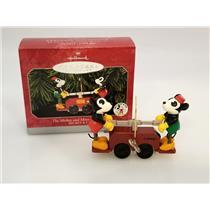 Hallmark Keepsake Ornament 1998 The Mickey and Minnie Handcar - #QXD4116