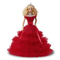 Hallmark Keepsake Series Ornament 2018 Holiday Barbie #4 - Red Dress - #QX9283