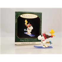 Hallmark Miniature Series Ornament 1999 Winter Fun With Snoopy #2 - #QXM4559