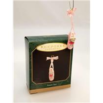 Hallmark Miniature Ornament 1997 Future Star - Ballet Slipper - #QXM4232
