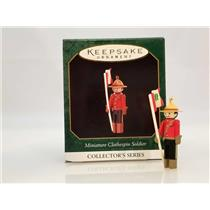 Hallmark Miniature Ornament 1997 Clothespin Soldier #3 Canadian Mountie #QXM4155
