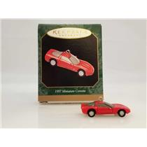 Hallmark Keepsake Miniature Ornament 1997 Red Corvette - #QXI4322