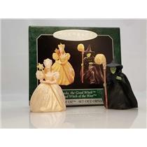 Hallmark Miniatures 1998 Glinda the Good Witch & Wicked Witch Set - #QXM4233