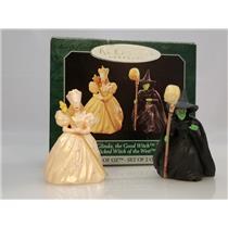 Hallmark Miniatures 1998 Glinda the Good Witch & Wicked Witch Set - #QXM4233-SDB