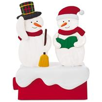Hallmark Wireless Figruine 2018 Caroling Snowmen - Snow Many Memories - #XKT5200