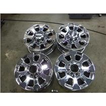 2018 FORD LARIAT PLATINUM F350 F250 OEM ALLOY CHROME RIMS WHEELS CAPS LUG NUTS