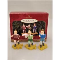 Hallmark Ornament Set 1999 The Lollipop Guild - The Wizard of Oz - #QX8029