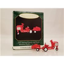 Hallmark Miniature 1999 Kiddie Car Classics 1955 Murray Tractor & Trailer - 4479