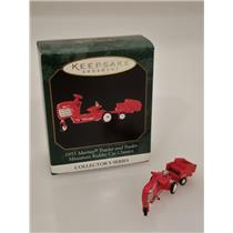 Hallmark Miniature 1999 Kiddie Car Classic 1955 Murray Tractor & Trailer 4479SDB