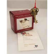 Carlton Heirloom Ornament 2008 Letter to Santa - Santa Key & Letter #CXOR070T-DB