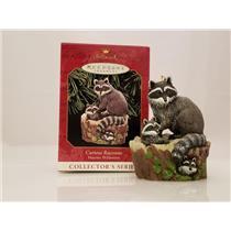 Hallmark Series Ornament 1999 Majestic Wilderness #3 - Curious Raccoons - QX6287