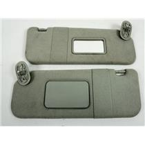2003-08 Toyota Corolla Pontiac Vibe Sun Visor Set with Mirrors Cloth Covering
