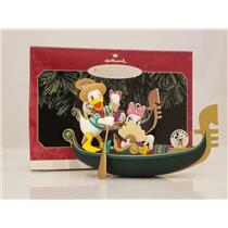Hallmark Ornament 1998 Romantic Vacations #1 Donald and Daisy in Venice XD4103DB