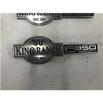 2003-2007 F350 , F250 King Ranch fender emblems tag as43799