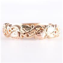 10k Multi-Tone Black Hills Gold Floral / Leaf Style Ring 3.1g Size 8