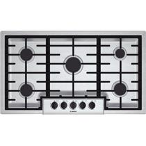 Bosch 500 Series 36 Inch 5 Sealed Burners Stainless Gas Cooktop NGM5656UC