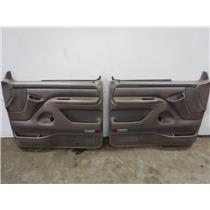 1995 - 1997 FORD F350 F250 EXTENDED CAB FRONT XLT DOOR PANELS (TAN) OEM
