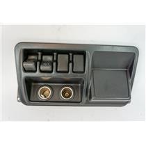 2003-2006 Jeep Wrangler Trim Lighter Bezel Rear Defrost Wiper Switch 12V Outlet