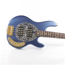 Ernie Ball Music Man Stingray HH Active Bass Guitar Pace Car Blue w/ Case #34362