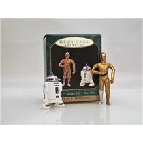 Hallmark Miniature Ornament Set 1997 C-3PO and R2-D2 - Star Wars - #QXI4265