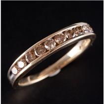 14k Yellow Gold Channel Set Champagne Diamond Wedding / Anniversary Band .40ctw
