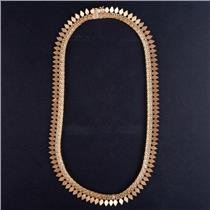 """18k Yellow Gold Fringe Style Collar Chain Necklace 15.5"""" Length 24.8g"""