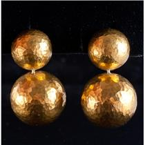 Tiffany & Co 18k Yellow Gold Paloma Picasso Dangle Sphere Earrings 16.3g
