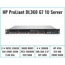 HP ProLiant DL360 G7 1U Server 2xSix-Core Xeon 2.66GHz + 36GB RAM + 4x300GB SAS