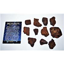 "MOROCCAN Chondrite Stony METEORITE ""B"" Grade Lot 238.2 grams #14294 12o"