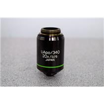 Olympus UApo/340 20x/0.75 Infinity Corrected 0.17 Microscope Objective Warranty