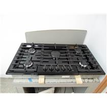 Bosch 800 Series 36 Inch 5 OptiSim Sealed Burners Black Gas Cooktop NGM8646UC