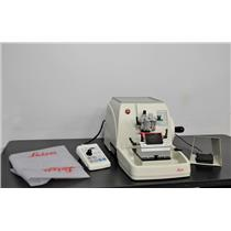 2009 Leica RM2255 Benchtop Rotary Motorized Microtome with Foot Switch Warranty