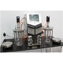 2012 Sartorius BIOSTAT B Plus Fermentor Bioreactor Cell Culture w/ 5L UniVessels