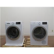 "Bosch 500 Series 24"" Front Load Washer and Dryer WAT28401UC / WTG86401UC Images"